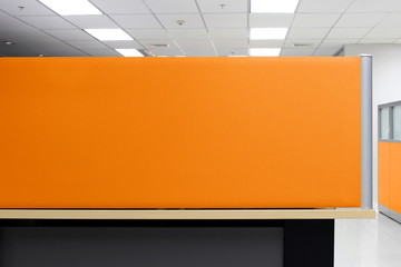 Partition, Orange Partition Empty wall Office Cubicle, Partition Quadrilateral Office background