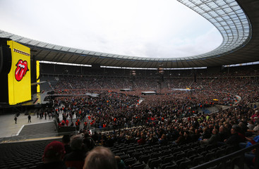verview of the Olympic Stadium before the start of the performance of The Rolling Stones during their 'Stones - No Filter' tour in Berlin