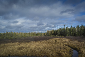 Colorful autumn landscape in Ontario, Canada