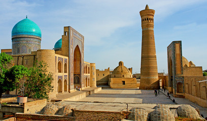 Photo sur cadre textile Monument Po-i-Kalyan mosque complex with The Kalyan minaret in Bukhara, Uzbekistan.