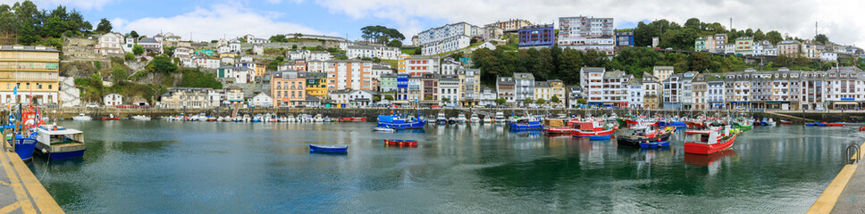 Foto op Canvas Barcelona Luarca is in the province of Asturias in the Asturias and Cantabria region of Spain.
