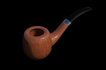 The smoking pipe 3d