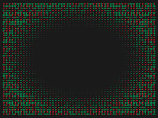 Streaming abstract binary code background. Data and technology, decryption and encryption. Spy or Hacker concept.