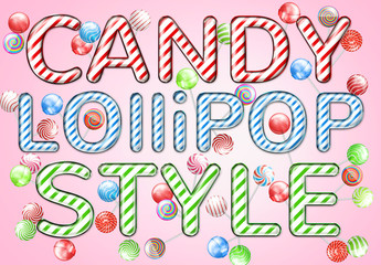 Candy Striped Text Style