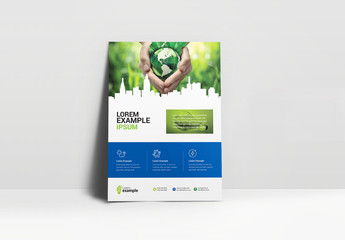 Green and Blue Environmental Flyer Layout