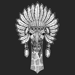 8c1994be4d521 Black bear Traditional ethnic indian boho headdress Tribal shaman ...