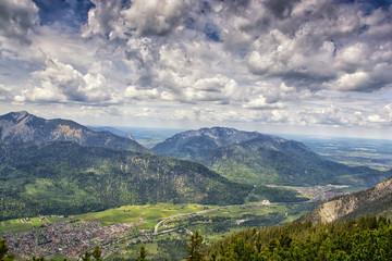 landscape near Garmisch Partenkirchen in Bavaria. Germany