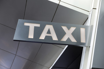 A modern taxi stand sign