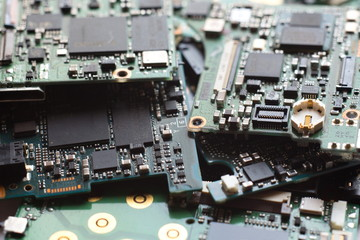 Electronic Waste,Semiconductor in Printed Circuit Board, technology background,