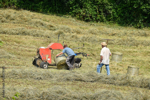 Drying And Harvesting Of Hay In The Mountains Of Val Seriana