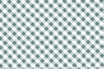 Gray Gingham pattern. Texture from rhombus/squares for - plaid, tablecloths, clothes, shirts, dresses, paper, bedding, blankets, quilts and other textile products. Vector illustration.
