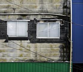 Geometric wall and windows