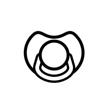flat pacifier icon