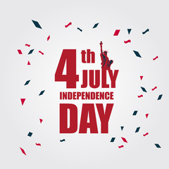 Independence Day 4th July Vector Template Design Illustration