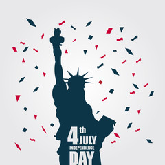 PrintIndependence Day 4th July Vector Template Design Illustration