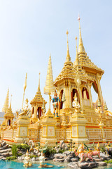 Bangkok, Thailand - November 04, 2017; Closeup The supplementary architecture around Royal Crematorium in thailand at November 04, 2017