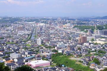 花岡山頂上から観た熊本市西区の街並み