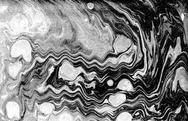 Marble abstract acrylic background. Natural black marbling artwork texture.