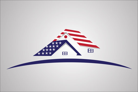 American USA houses logo