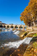 le Vidourle à Sommières, Gard, Occitanie, France