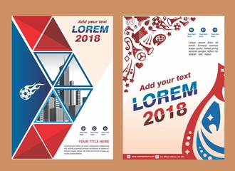 cover, brochure, layout, poster for sport event, trend 2018