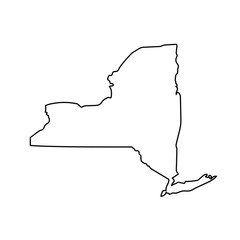 map of New York state. vector illustration