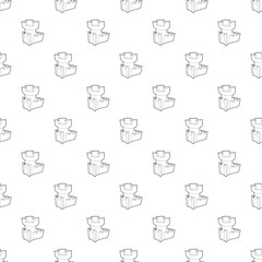 Castle tower pattern vector seamless repeating for any web design
