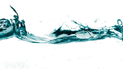 Water smooth wave in a wave isolated on white background