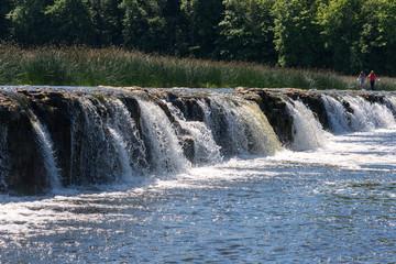 Waterfall Ventas rumba in Kuldiga, Latvia.