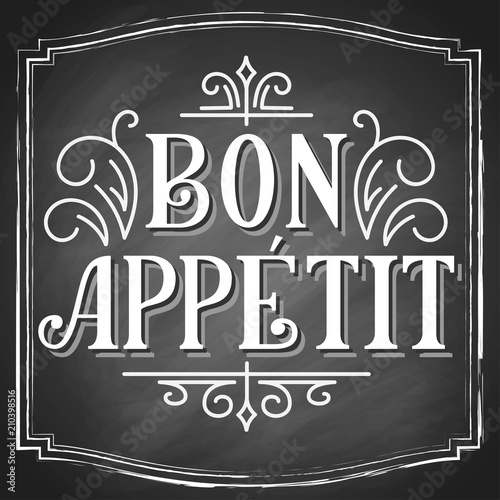 Bon Appetit Hand Lettering Vintage Drawn Typography Customletters