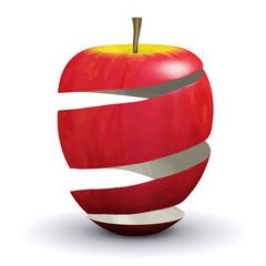 Vector 3d Apple peel