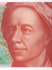 Leonhard Euler portrait from Swiss money