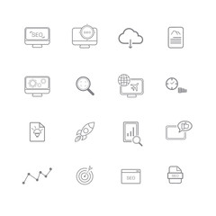 SEO simple icon set , use for web business phone
