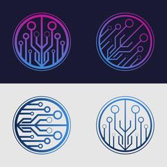 Technology logo design. Tech element.