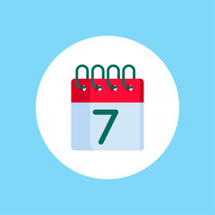 Calendar flat vector