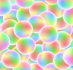 Rainbow balls - 3d abstract background