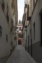 paseo por las calles del antiguo barrio del Albaicín, Granada