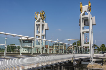 bridge over the river ijssel in the city of kampen. netherlands holland Fototapete