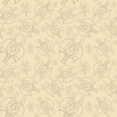 Watercolor drawing of a seamless pattern on a marine theme and on a zodiac sign, cancer, lobster, river crayfish, starfish, detailed illustration, blue stripes, waves, close-up, on a white background