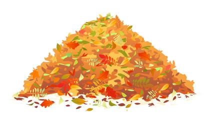 Pile of Fallen Leaves Wall mural