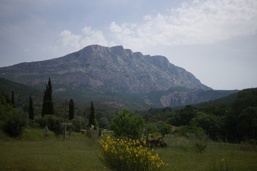 Mountain Sainte Victoire in south france