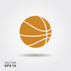 Basketball. Flat vector con.