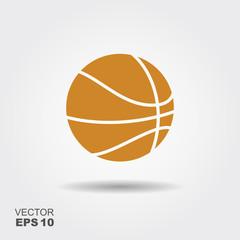 Basketball. Flat vector con.