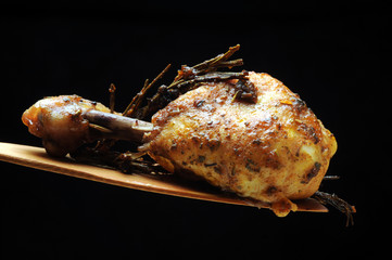 Printed kitchen splashbacks Chicken Pieczony kurczak Pollo arrosto Roast chicken Brathähnchen Poulet rôti Frango assado Paistettua kanaa Gebraden asado kip жареный цыпленок
