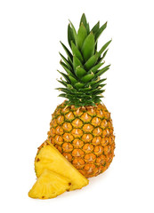 Pineapple isolated white background