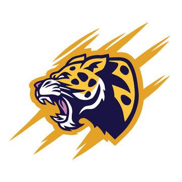 Leopard Logo Design Vector Illustration Template