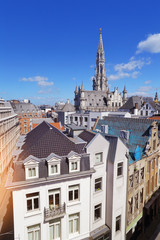 vue de Bruxelles centre, grand place, hôtel de ville, Belgique