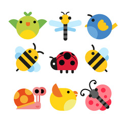 insects character vector design