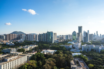 panoramic shenzhen city skyline