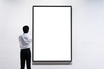 businessman in gallery